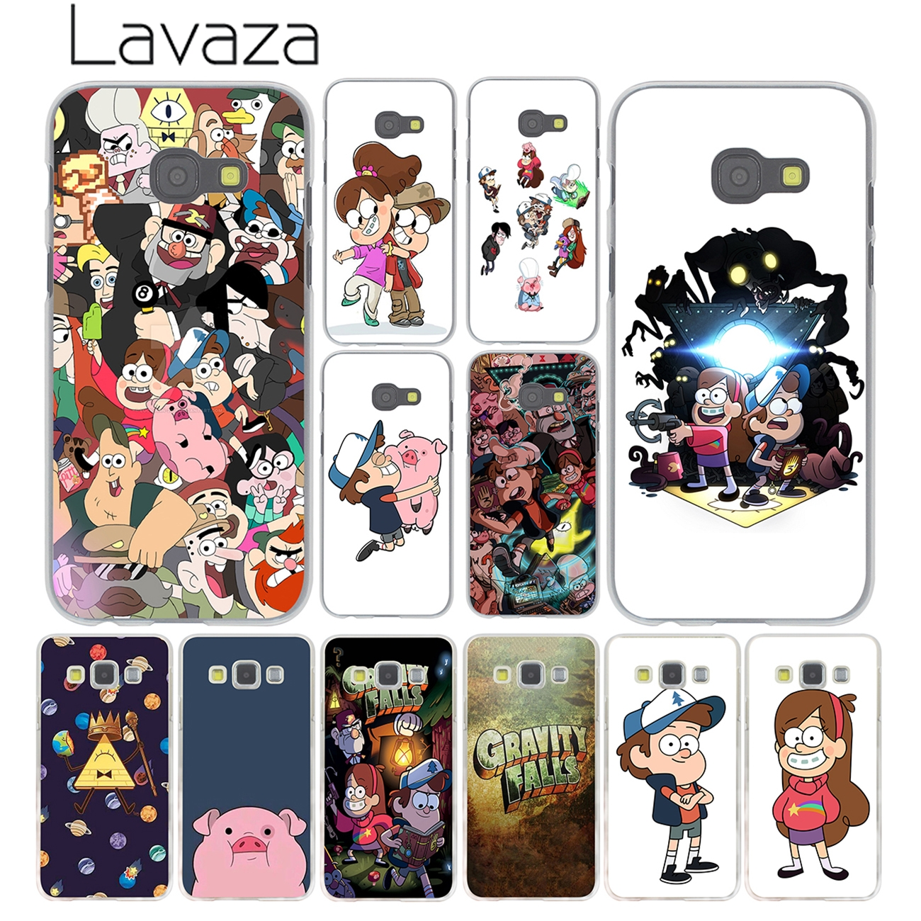 Lavaza Animation Gravity Falls Phone Cover Case for Samsung Galaxy A3 A5 A7 J3 J5 J7 2015 2016 2017 & Grand Prime 2 Note 4 3