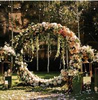 Simulation of Flower Art Silk Flower Wedding flower door Happy Door Round Full Flower Arch Opening Shop Celebration .