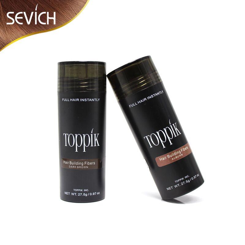 Salon Beauty Makeup fiber 27.5g Toppik Hair Fiber Keratin Hair Building Fibers Styling Powder Hair Loss Concealer 10 colors