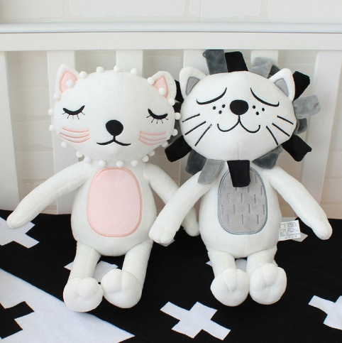 onsale Pillow Kids Stuffed Toys Girls Boys Lion Cat Dolls Children Room Decoration Coshion Infant Photography Props Baby Bedding