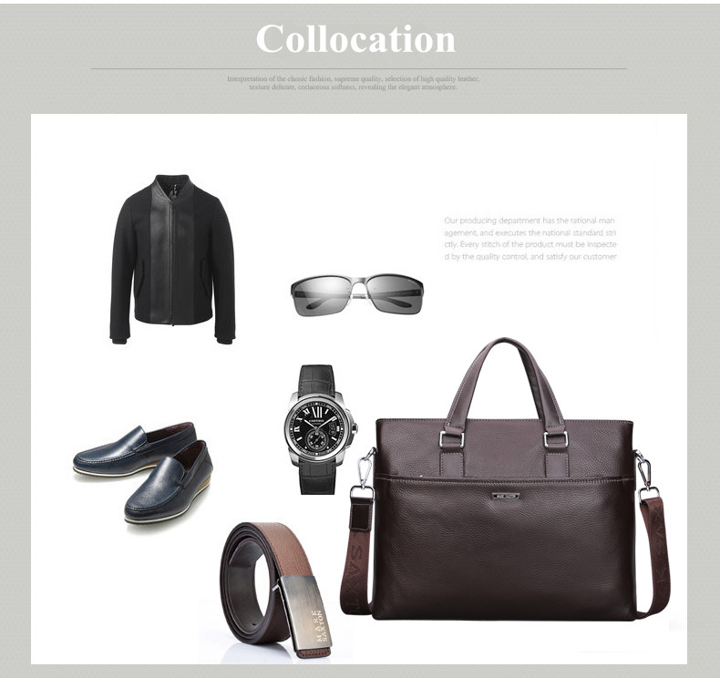 New Fashion Genuine Leather Famous Brand men briefcase,Mark Saxton commercial laptop briefcase, cross-body shoulder bag