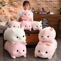 Huge Size Animal Toys Cartoon Pink Pig plush Toys Fat Pig Pillow Soft Cushion Hand Warmer Chinese Zodiac Pig Doll for Kids Girl