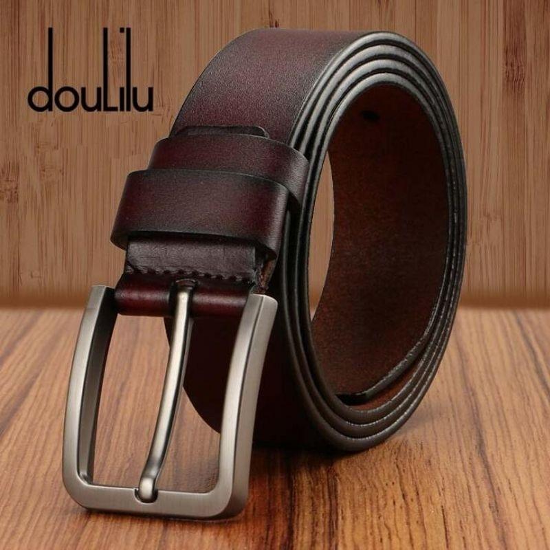 2019 Fashion Designer Men's Luxury Belts High Quality Cow Genuine Leather Vintage Pin Buckles Business Male Jeans Waist Belt