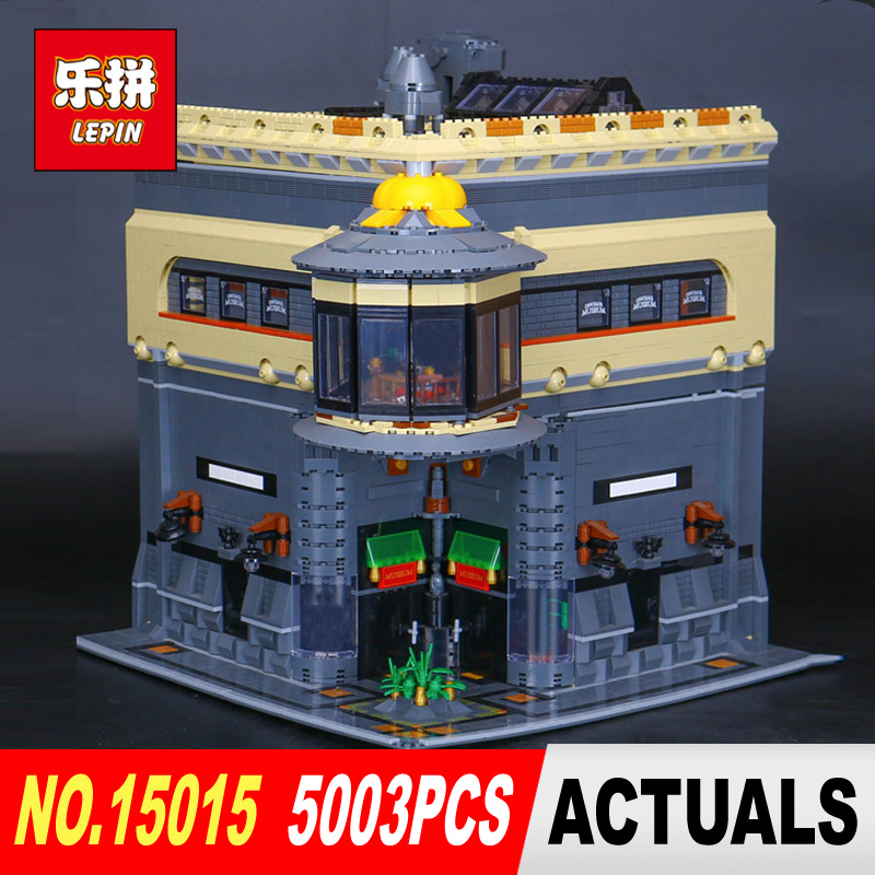 DHL New LEPIN 15015 5003Pcs City The dinosaur museum Model Building Kits DIY Brick Toy Compatible Children day's Gift for girl new lepin 16008 cinderella princess castle city model building block kid educational toys for children gift compatible 71040