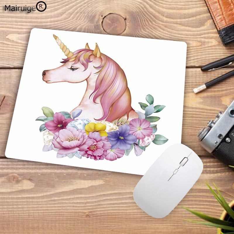 Mairuige nuevo dibujos animados unicornio personalizado portátil para juegos almohadilla para mouse de velocidad tamaño 18x22cm 20x25cm 25x29cm de Mousemats
