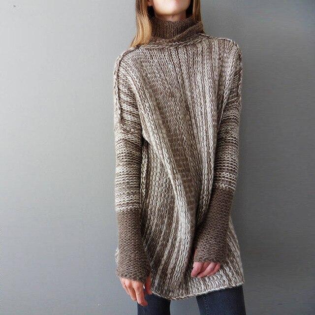 check out cb7d6 f0576 Neue Rollkragen Lange Pullover Mujer Damen Herbst Winter Frauen Gestrickte  Voll Ärmeln für