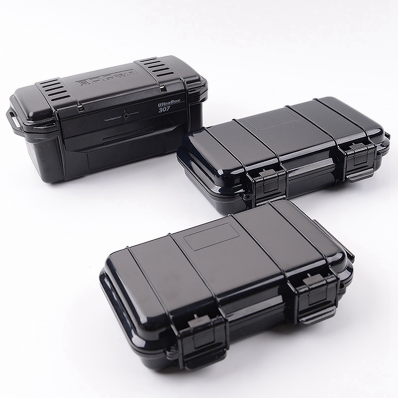 Outdoor Shockproof Sealed Waterproof Safety Case ABS Plastic Tool Box Dry Box Safety Equipment camping hiking tool 1pcstoolbox 280 246 106 plastic shockproof waterproof tool case plastic sealed waterproof safety equipment case portable box
