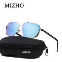 MIZHO Brand Design Busines Mirror HD Visual Protection Retro Sunglasses Men Polarized Rectangle Traveling Luxury Glasses Driving