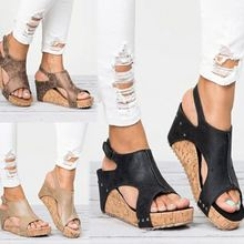 Europe Summer Womens Sandals Wedges High-heel Shoes Woman Platform Fashion Sexy Casual Fish Mouth Rome Sandals Women Size 35-43 цены онлайн