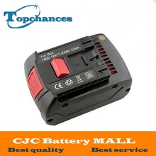 Высокое качество Замена BOSCH Перезаряжаемые Батарея 18 В 4.0 Ач li-ion Батарея для Bosch 17618 bat609 bat618 со светодиодной подсветкой