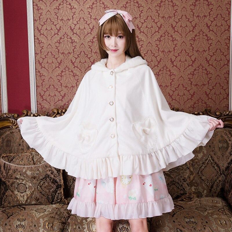 Printemps À Femmes Manches Sœur Automne Mode Sweet Princesse Adorable Japonais Lolita blanc Belle Zjy145 Manteau Longues Noir Et De Doux nOXqn6wZz