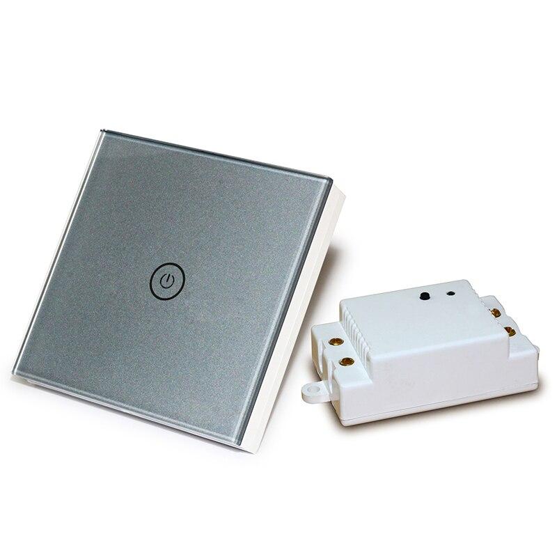 Hot Sale Wireless 110v 240v Touch Light Switch 1 Gang 1