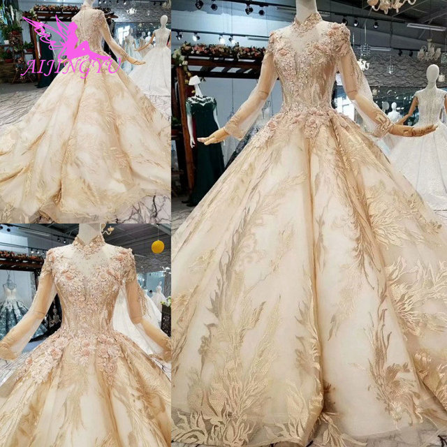 AIJINGYU فستان الزفاف زي العباءات جديد عصري اثنين في واحد تصميم الكرة القوطية شراء ثوب فاخر 2021 قصيرة متجر عبر الإنترنت الصين