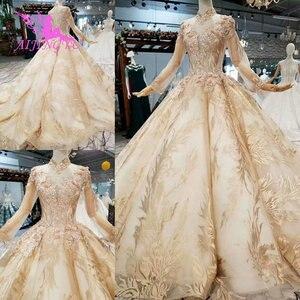 Image 1 - Aijingyu Trouwjurk Kostuum Toga Nieuwe Modieuze Twee In Een Gothic Ball Ontwerp Kopen Luxe Gown 2021 Korte Online Shop china