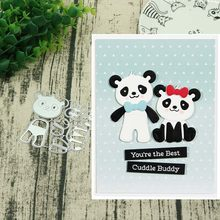 Build up panda Metal cutting dies stencils and stamps for DIY Scrapbooking Scrapbook Paper Album Craft Dies(China)