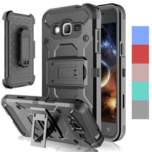 Heavy Duty Armor Case With Kickstand Holster+Belt Clip Shockproof Hard Phone Covers For Samsung Galaxy J3 2016 J320 J320F J320H