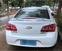 Universal Sedan ABS PAINT CAR REAR WING TRUNK LIP GT SPOILER FOR Chevrolet Cruz 2009 2020 (No Drill) BY EMS