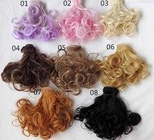 1pcs 15cm 100cm Pear curls 1 3 1 4 1 6 BJD SD Doll hair DIY
