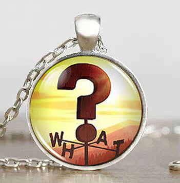 Steampunk Necklace Drama Gravity Falls Mysteries BILL CIPHER WHEEL what Sign Weathervane Pendant 1pcs/lot question mark antique