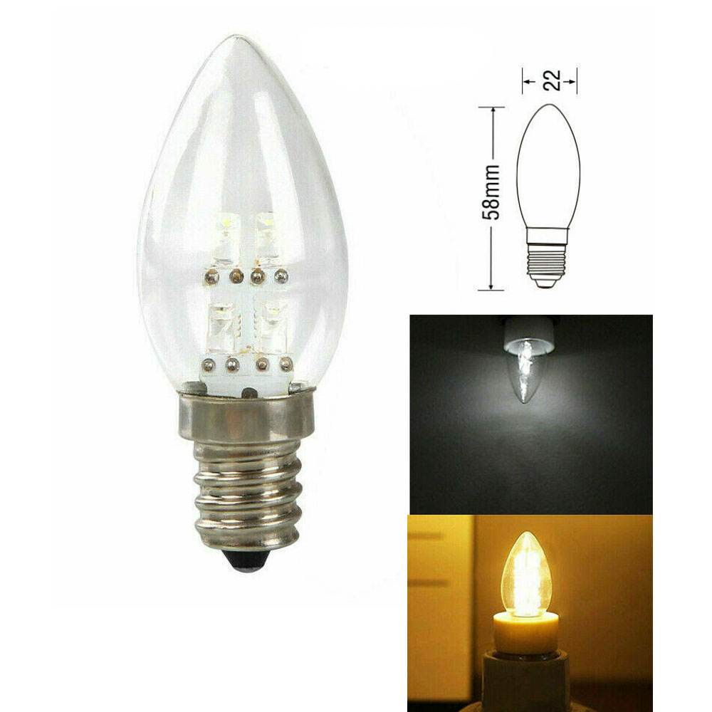 1pcs E12 LED Candelabra Light Bulb Candle Lamp 10W Equivalent Chandelier Light Warm/Cold White Home Lights AC 110V 220V