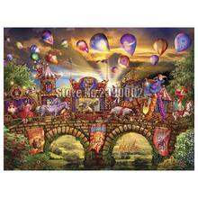 5D Diy Diamond Painting Fantasy Circus Cross Stitch Embroidery Wall Sticker Mosaic Carnival Christmas Crafts Rhinestone