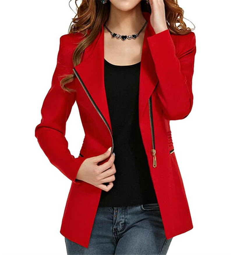 Popular Womens Red Blazer Jacket-Buy Cheap Womens Red Blazer ...