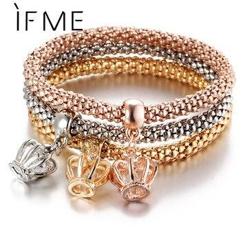 Rose Gold Crystal Owl Charm Bracelets 1