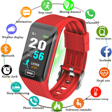 Men Smart Bracelet Band Women Heart Rate Monitor Blood Pressure Fitness Tracker LED color screen Sport Watch for ios android+BOX недорого