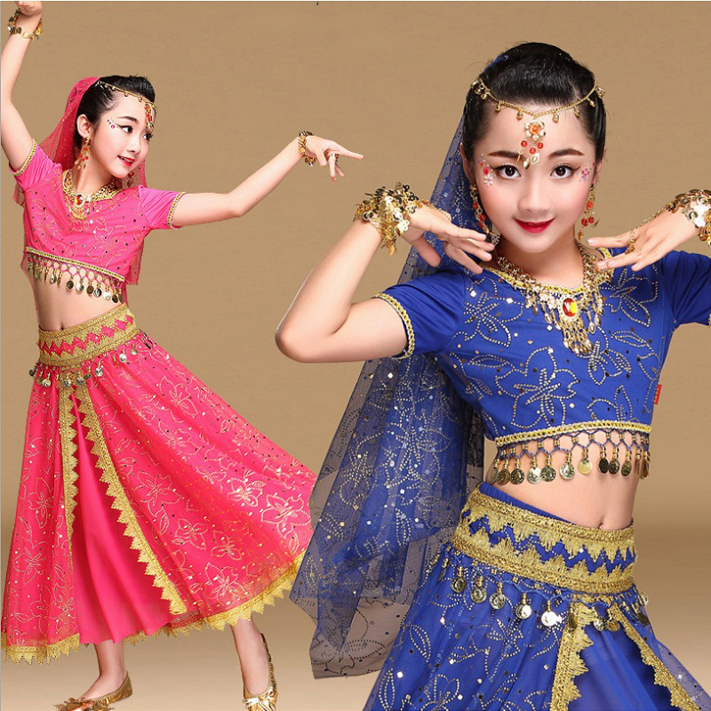 Belly Dance Costumes Girls Kids Bellydance Dress Indian ...