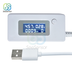 LCD Screen Mini Phone USB Charger Tester Voltmeter Ammeter Voltage Current Meter Capacity Tester Mobile Power Charger Detector