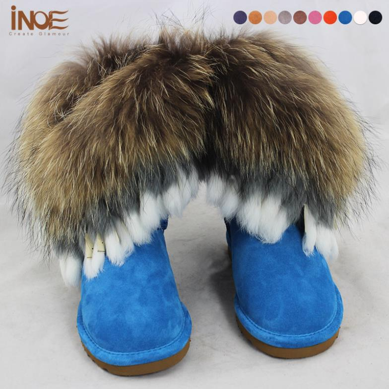 Real sheepskin leather tassels fashion snow boots for women nature fur wool lined winter shoe nature fox fur boots High Quality new 3236 men and women same styles sheepskin wool fur leather flat boat shoes shoe