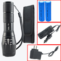 LED CREE XML-T6 Flashlight 6000lm Tactical Flashlight Torch Zoomable Lantern + 2*18650 Battery + DC/Car Charger+Holster Holder