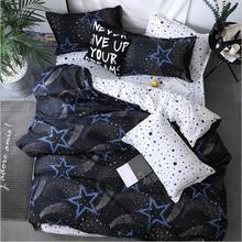 Bedding Set New English alphabet flamingos checker 4pcs/3pcs Duvet Cover Sets Soft Polyester Flat Bed Sheet Pillowcase