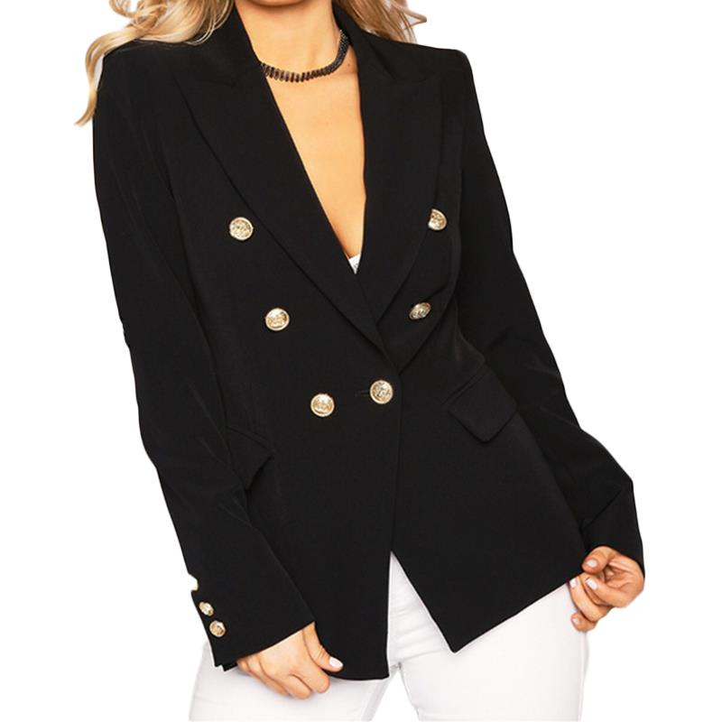 New Women Slim Jacket Coat Fashion Casual Jacket Long Sleeve Turn Down Collar Button Autumn Ladies Work Wear For Office WS2509V