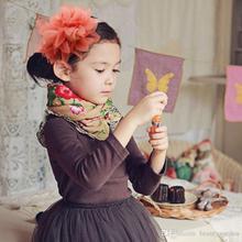 100pcs/lot Kids Headband With Big Flower Girls Prom Hairband Headwear Manual Ornaments WHH108