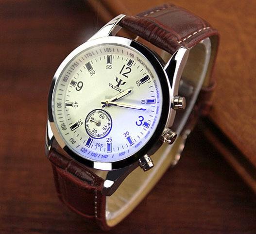 Fashion Simple Quartz Men Watch Casual Leather font b Dress b font Watches Analog Classic Vintage