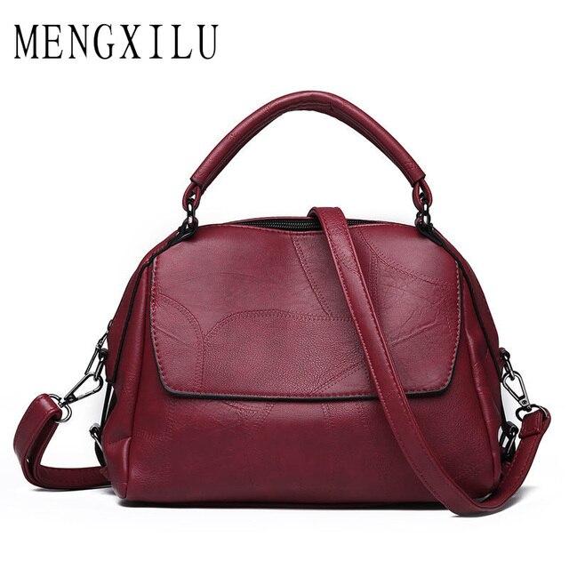91bda9798e MENGXILU Brand New Women Handbags Designer Shoulder Bag High Quality PU Leather  Bag Women Vintage Ladies