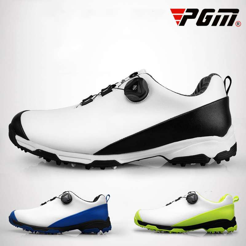 PGM Golf Shoes For Men Waterproof PU Leather Breathable Man's Sport Shoes Non-slip Professional Brand Sneakers Chaussures Homme pgm men golf shoes breathable athletic sneaker plus size 39 46 mesh sport shoes pu waterproof professional golf shoes for men