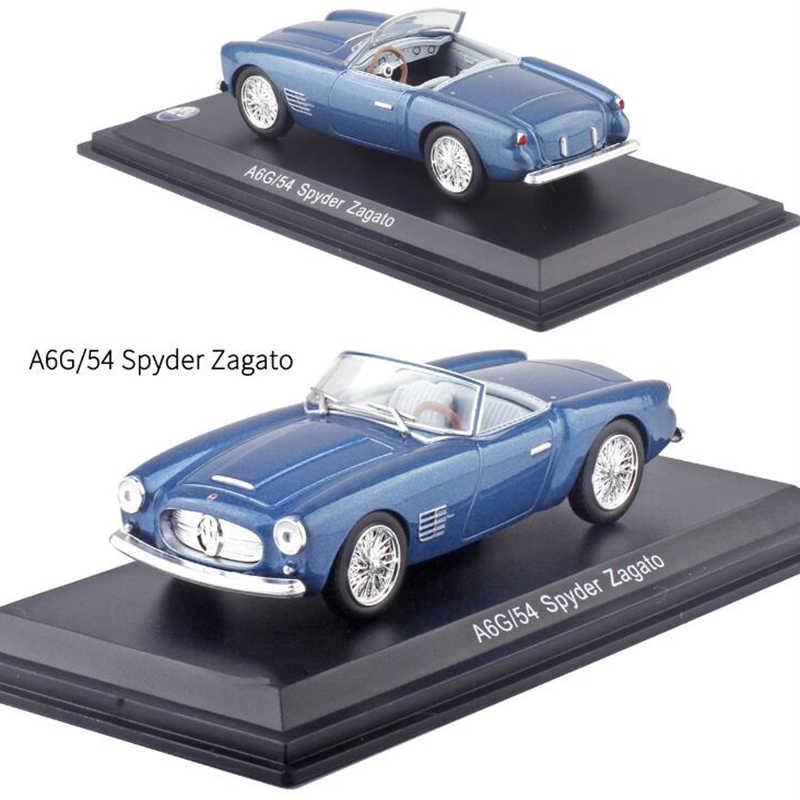 1:43 Skala Spyder Balap Paduan Logam Klasik Rally Mobil Model Diecast Kendaraan Mainan F Koleksi Tampilan dengan Penutup Transparan