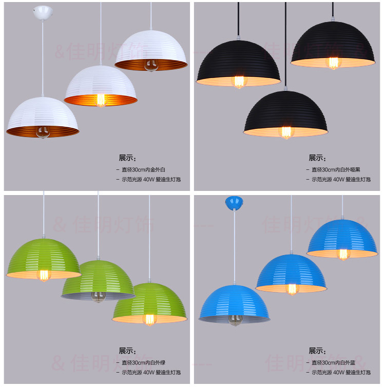 ФОТО 3PCS chandelier modern minimalist restaurant semicircle dome light chandelier shop studio chandelier hanging lamp zzp