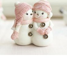 cake decorating mold 3D baby Mold Christmas couple a pair snowman candle mould silicone soap doll christmas gifts