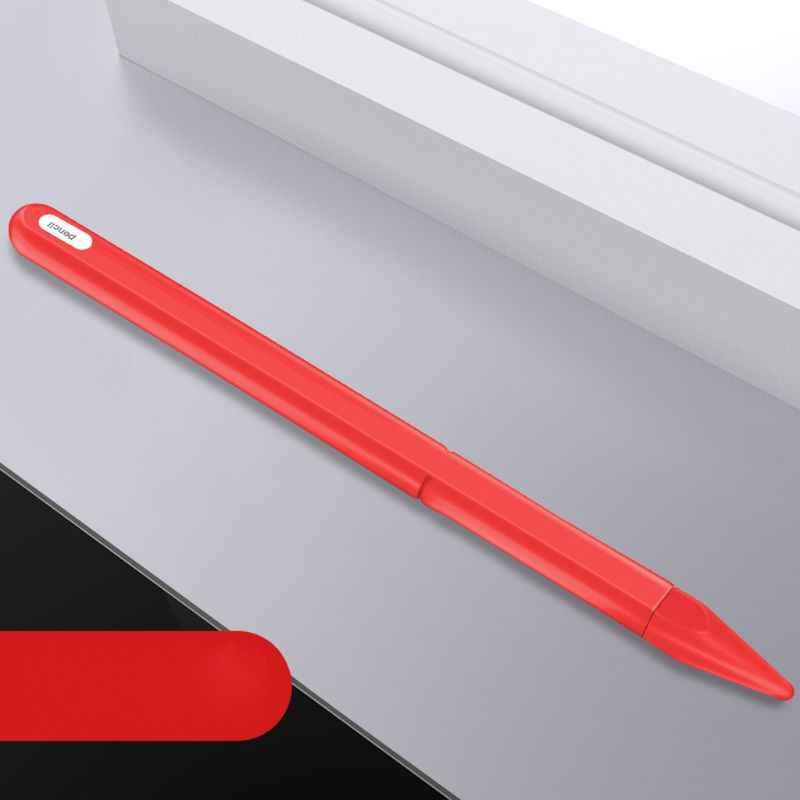 لينة سيليكون ل التفاح 2 حافظة لجهاز ipad قلم رصاص 2nd تلميح غطاء حامل اللوحي لمسة قلم ستايلس 360 كامل واقية كيس مزموم