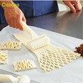 Delidge 1 unid alta calidad pastel de pizza cortador de galletas de pastelería hornear utensilios para hornear herramientas de plástico gofrado rodillo la masa de celosía cuttercraft