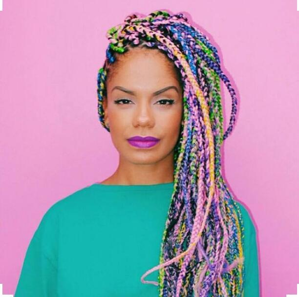Mixed Colored Braids Hairstyles Photos Fabwoman