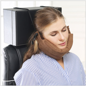 Memory Foam Airplane Inflatable Neck Pillow For Sleep