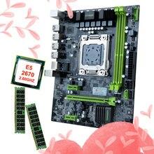 HUANANZHI X79 6 M LGA2011 carte mère regrouper rabais carte mère avec CPU Intel Xeon E5 2670 2.6 GHz RAM 16G (2*8G) DDR3 REG ECC