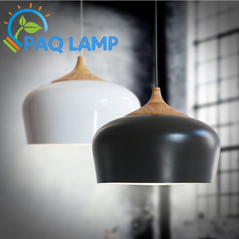 Modern lamps pendant lights Wood and aluminum lamp diameter 30 35cm restaurant bar coffee dining room