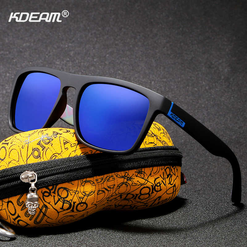 41a7bfa87a Detail Feedback Questions about KDEAM Outdoor Polarized Sunglasses For Men  Women Brand Designer Sun Glasses Square polarizadas With Hard Zipper Case on  ...