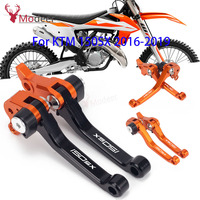Motorcycle DirtBike Dirt Pit Brake Clutch Levers CNC Pivot For KTM 150SX 150SX 2016 2017 2018 2019