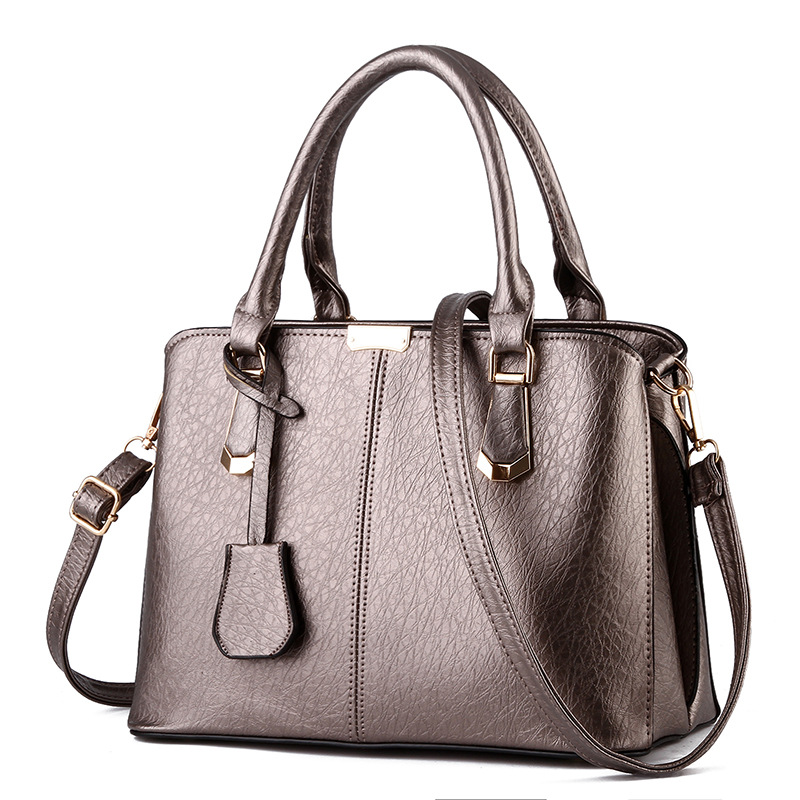 Free Shipping 2017 New Fashion Pink Black Beige Simple PU Handbag Women Messange Bags Crossbody Bag MY009